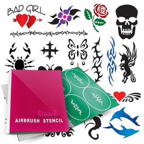 henna tattoo stencils amazon temporary airbrush design stencil patterns ebay