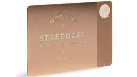 Metal Gift Cards - starbucks unveils 450 rose metal gift cards