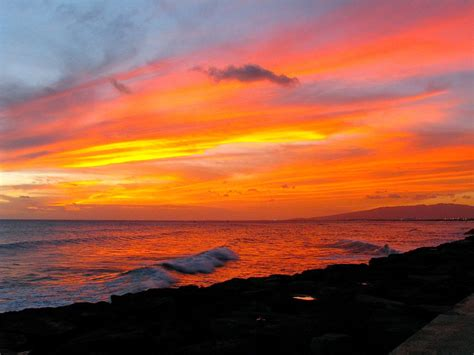 color sunset majestic colors of sunset hawaii reporter