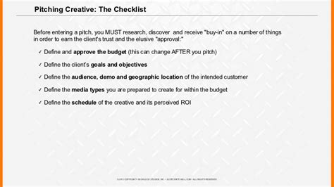 agency pitch template writing an agency pitch brief