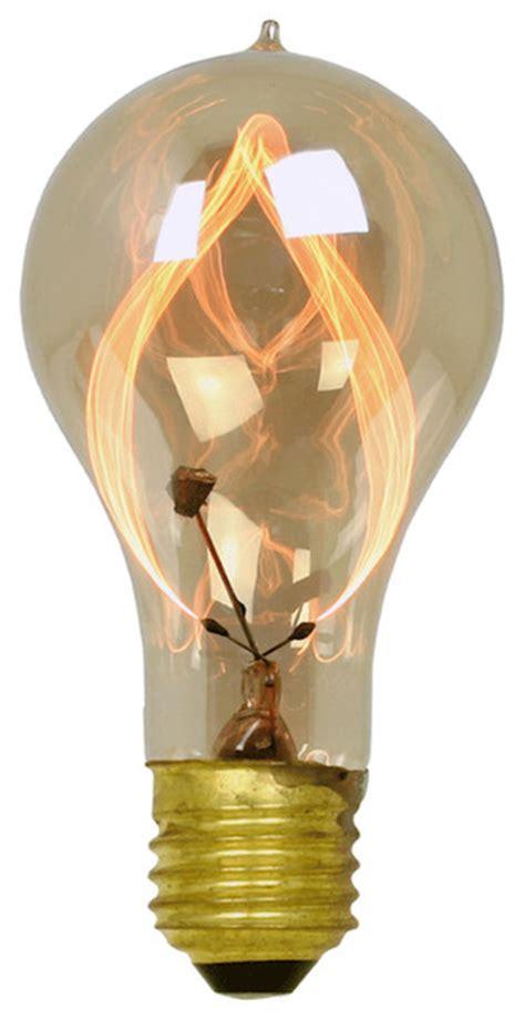 15w carbon filament flicker bulb eclectic incandescent
