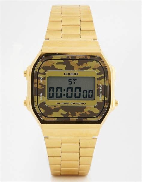 casio color oro casio casio a168wegc 5ef orologio digitale con
