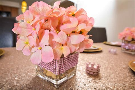 Pink Baby Shower Centerpieces by Pink And Gold Princess Elephant Baby Shower Ideas