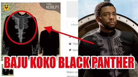 Baju Koko Anak Black Panther viral baju koko black panther