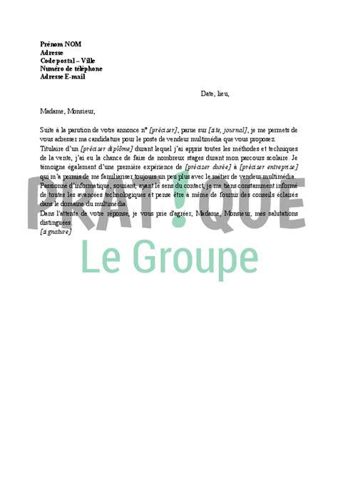 Vendeur Sportif Lettre De Motivation lettre de motivation pour vendeur multim 233 dia pratique fr