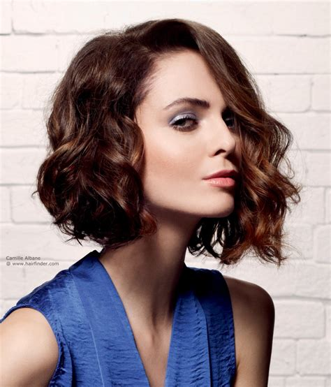 haircut bob wavy hair contemporary wavy bob hairstyle with a longer front section