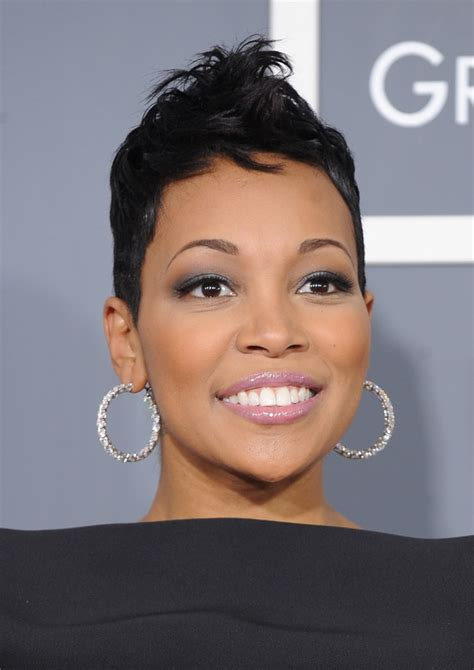 female singer with short hair trendy short hairstyles for black women wardrobelooks com
