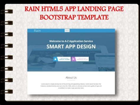 13 Best App Landing Page Bootstrap Templates In 2016 Bootstrap App Landing Page Template
