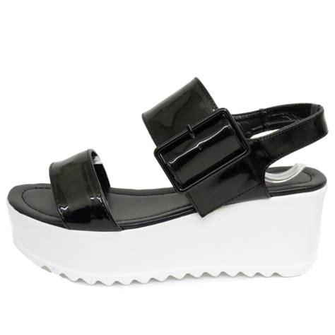 black flat platform shoes dolcis black flat form platform chunky sandals