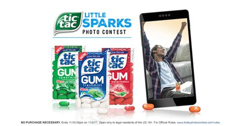 Tic Tac Sweepstakes - tic tac little sparks photo contest 2017 dates prizes more