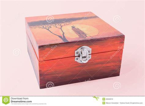 Decoupaged Boxes - decoupaged box stock photo image 26559310