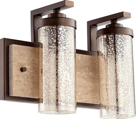 mercury glass vanity light oiled bronze julian 2 light 15 25 quot wide vanity wall light