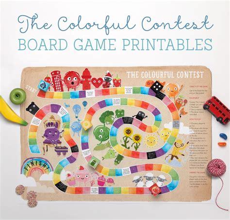 fun printable card games free colourful contest board game printable