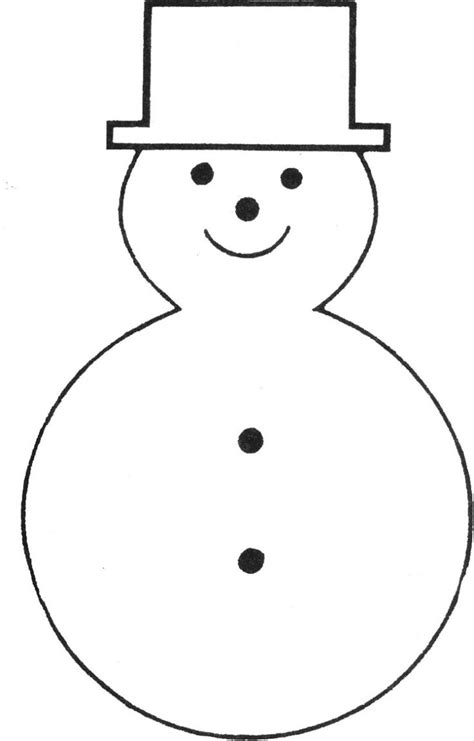 snowman templates to cut out free printable snowman template bonhommes de neige