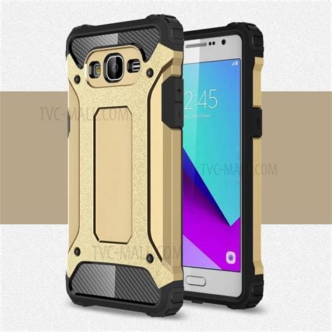 Cover Samsung Galaxy J2 Hybrid Armor Defender With Kick Stand armor guard plastic tpu hybrid cover for samsung galaxy j2 prime gold tvc mall