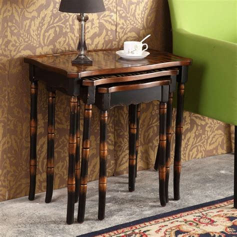 Antique Side Tables For Living Room | retro hand painted side table set coffee table antique