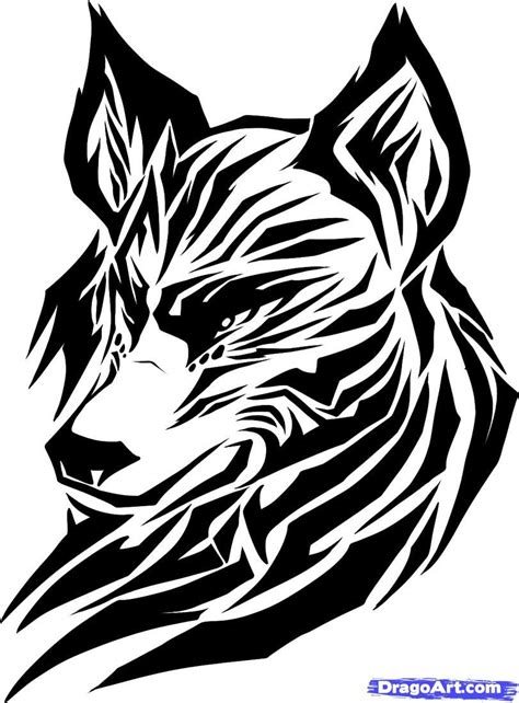 sketches of tribal tattoos draw a tribal wolf tribal wolf step by step drawing