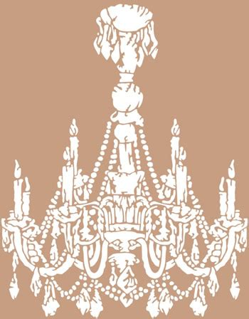 Chandelier stencil it all started with paint kotaksurat chandelier stencils chandelier reusable stencil aloadofball Image collections