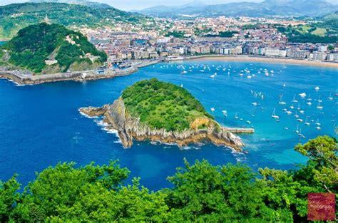 san sebastian   beautiful city  spain drone