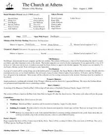 Church Minutes Template by Best Photos Of Template Of Minutes Of Meetings Exles
