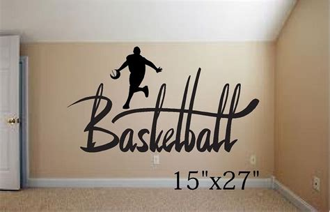 basketball wall murals basketball player wall mural vinyl wall decal letters 15 quot x27 quot ebay