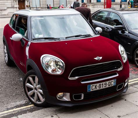 red velvet car mini cooper maroon velvet vinyl wrap pour homme