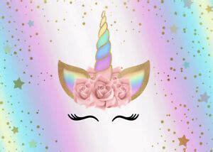 polyester xft rainbow unicorn star rose background photography backdrop props ebay