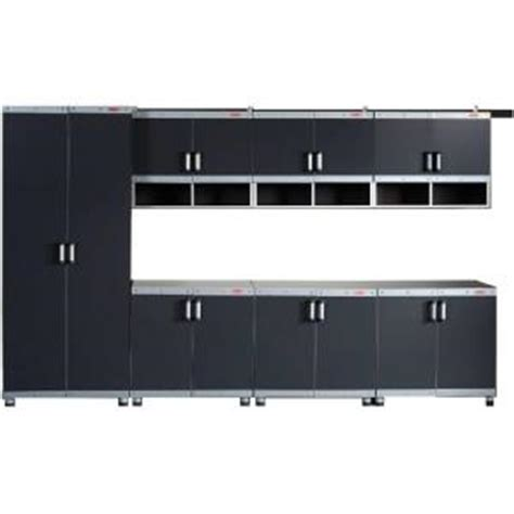 Laminate Garage Cabinets by Rubbermaid Fasttrack Garage Laminate 7 Cabinet Set