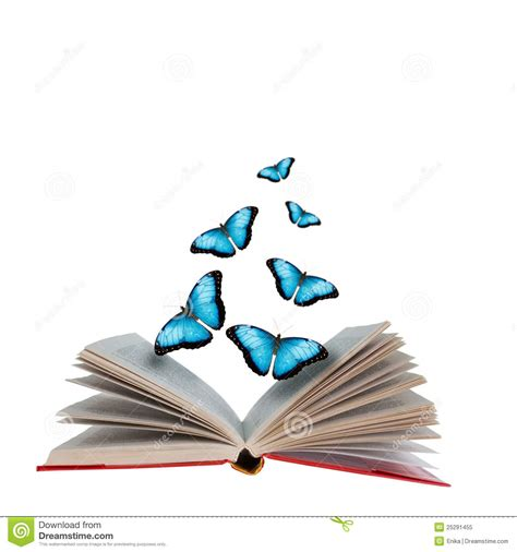 libro the butterfly open book and butterflies stock image image of herd 25291455