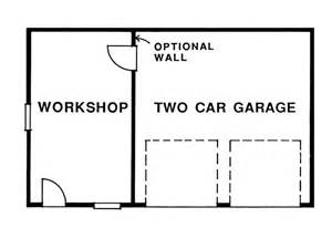 Two car garage with attached workshop 063d 6010 garage plans and
