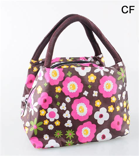 Lunch Box Small Tote Bag Multifunction 15 coffee flowers lunch box bag lunch bags casual handbag small bag handbag picnic totes carry