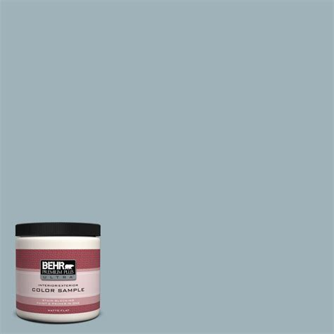 behr premium plus ultra 8 oz 540e 3 blue fox interior exterior paint sle 540e 3u the home