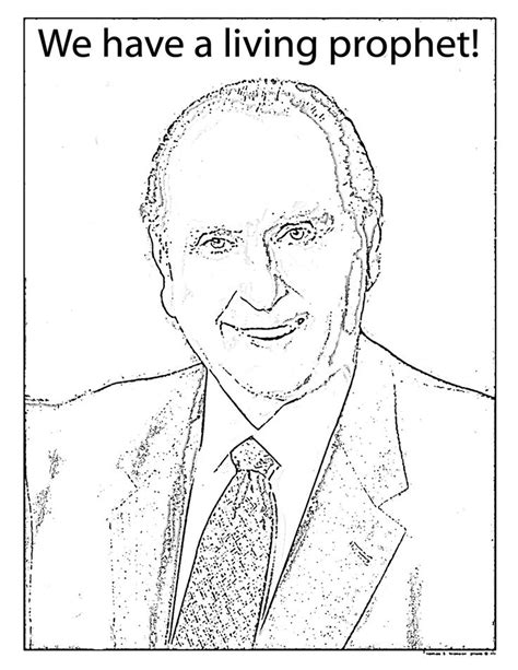 coloring pages for lds primary lessons mormon share president monson coloring sheet lds primary