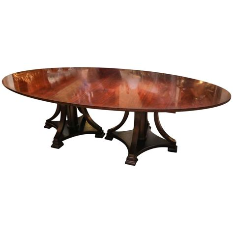 Oval Pedestal Dining Table With Leaf Large Oval Dining Table Pedestal Mid Century Mahogany With Large Leaf For Sale At 1stdibs