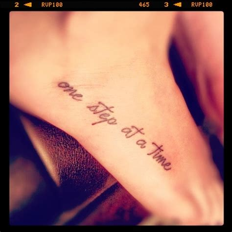 one step at a time tattoo my newest quot one step at a time quot tattoos