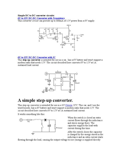 simple dc inductor circuit simple dc to dc converter circuits inductor voltage