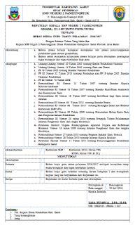 contoh surat keputusan kepala sekolah terabru 2016