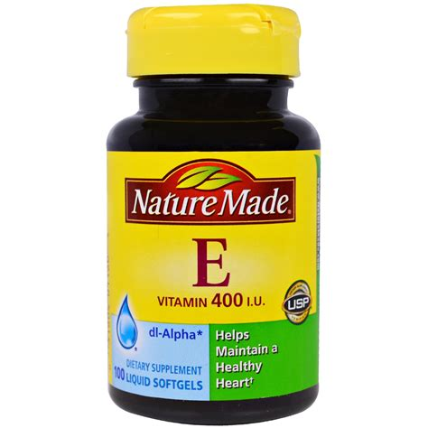 Vitamin Natur E Nature Made Vitamin E 400 Iu 100 Liquid Softgels