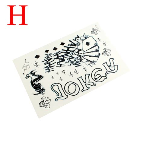 jared leto joker tattoo transfers new fashion halloween party joker jared leto temporary
