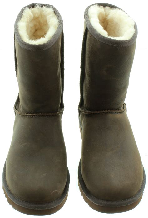 brown leather ugg boots uk