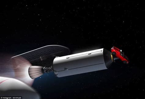 elon musk rocket spacex fires a car to mars on world s most powerful rocket
