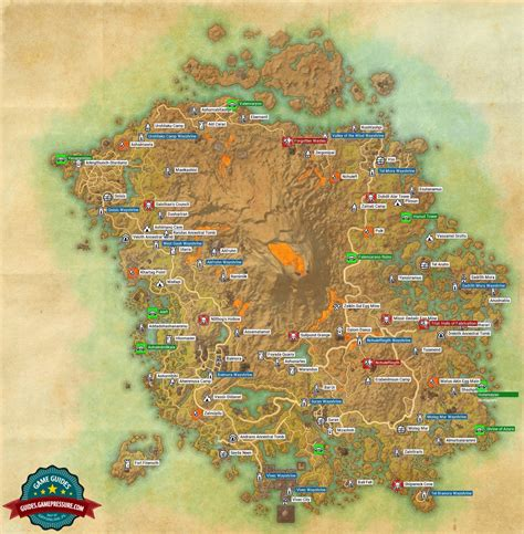 morrowind map map of vvardenfell in morrowind dlc the elder scrolls guide gamepressure