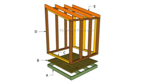 free lean to shed plans free outdoor plans