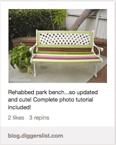 park bench rehab pinterest round up of homejelly how tos homejelly