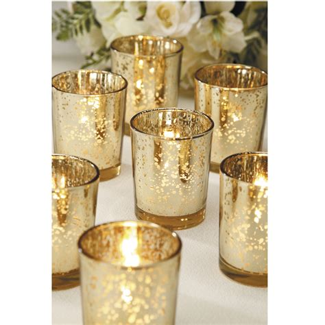 decor glass candle votive holder and votive candle