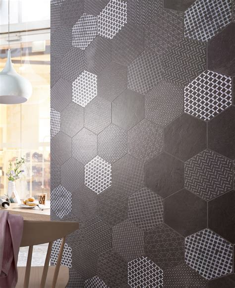 Fliese Hexagon by Wandgestaltung Deutsche Fliese