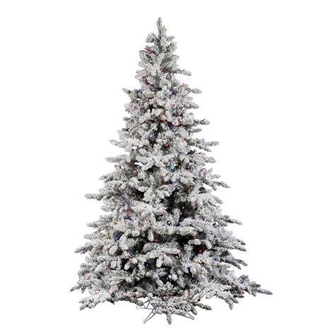 9 foot flocked utica fir christmas tree multicolor