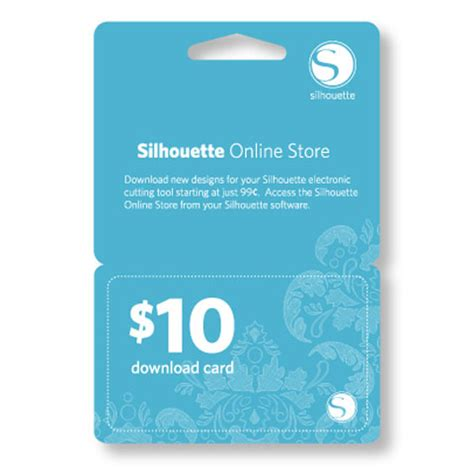 Silhouette Gift Card - silhouette 10 dollar download gift card