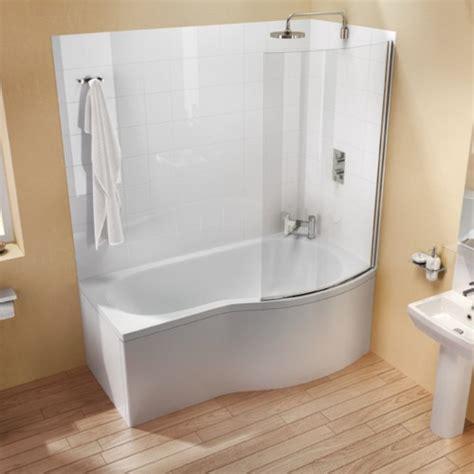 bath panel 1700 x 500 cleargreen ecoround b shaped 1700 x 900mm shower bath right