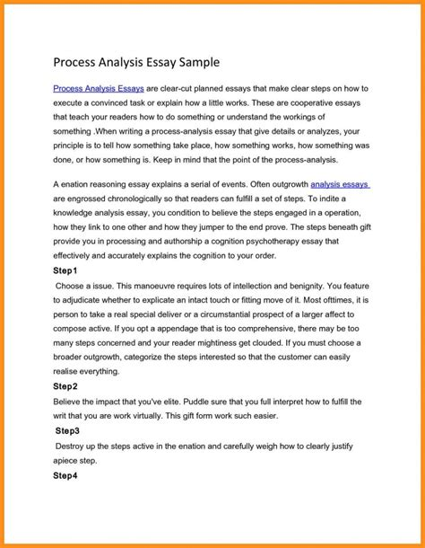 process analysis essay sle exles of process analysis essay sle swot analysis essay